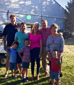 Jim Dunnigan, Brad Herbert, Carmen Rasmussen Herbert, Gov Herbert and first lady enjoying Taylorsville Dayzz.
